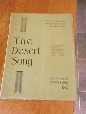 1932 Theatre Royal Plymouth Programme Plus Newspaper Reviews - The Desert Song