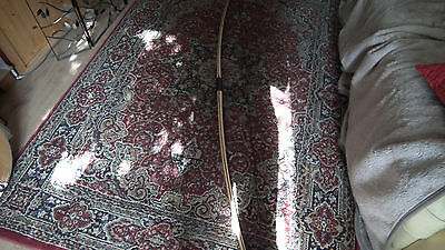 "Triple Laminate  English Longbow  #47@28"" Ambidextrous! Horn Nocks!!"