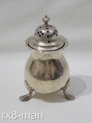 CHESTER 1901 ANTIQUE EDWARDIAN SOLID STERLING SILVER SMALL PEPPER POT - 32g