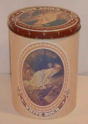 Vintage White Rock Nude Fairy Metal Tin By Chein Co Cheinco Table Water Psyche