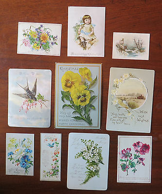 C2627 10 Victorian Greetings Cards: Mixed Subjects