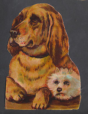 S2720 Victorian Die Cut Scraps: Large Pair of Dogs