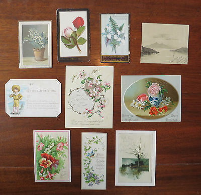 C2826 10 Victorian Greetings Cards: Mixed Subjects