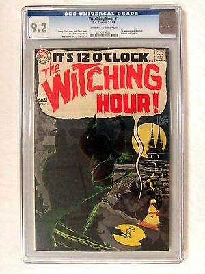 DC Comics Witching Hour #1 (1969) Silver Age Horror CGC 9.2 Graded Book BP676