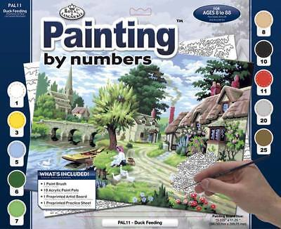 NEW Royal Brush Paint by Number Duck Feeding PAL11