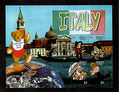 Grenadines Of St. Vincent Bequia #315 S/s Vf Nh, Teddy Bears Centenary !!