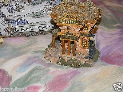 Boyds Bearly-Built Village Public Library W/ Box-2000-Retired