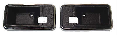 77-81 Camaro Firebird Trans Am Door Handle Trim Cups Escutcheons, Pair,black