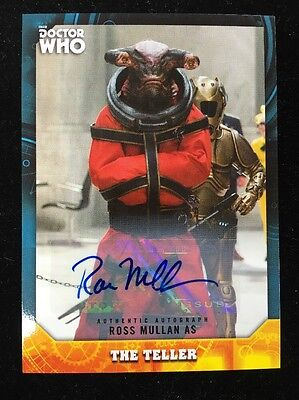 2017 Topps Doctor Who Signature Series Ross Mullan As The Teller  Autograph