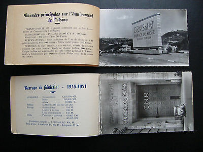 Lot 2 carnets 20 cpsm Barrage Génissiat Ain Rhône Cusset +1 photo argentique EDF