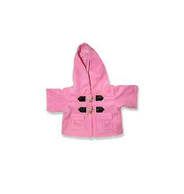 """Pink Duffle Coat / Jacket outfit teddy bear clothes fits 15"""" Build a Bear"""