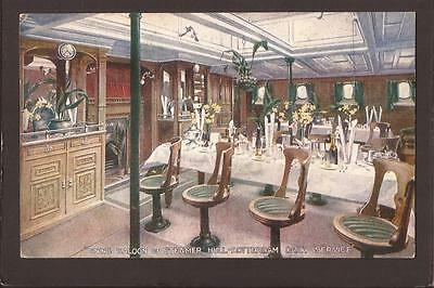 Dining Saloon of Steamer. Hull-Rotterdam Daily Service. Ferry.