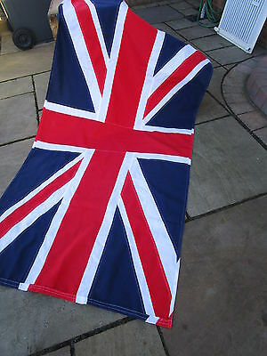 Vintage Ex Military Government UNION JACK FLAG BRITISH MADE approx 6ft x 3ft""