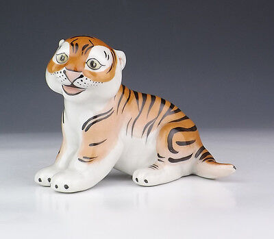 Vintage U.S.S.R. Russian Porcelain - Tiger Figure - Lovely!