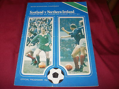 Scotland v N.Ireland Official Programme 1975