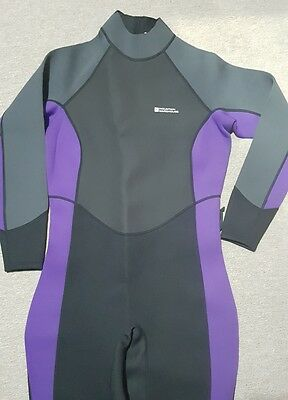 Womens Mountain Warehouse Active Black Full Length Swimming Wetsuit Size 16 - 18