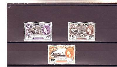 a109 - ST HELENA - SG163-165 MNH 1953 HIGH VALUES 2/6 - 10/- DEFINITIVES