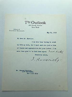 """President Theodore Roosevelt Typed Letter Signed - With Handwritten """"Good Luck!"""""""