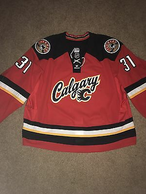 Karri Ramo 2014-2015 Game Issued / Worn Calgary Flames Alternate Hockey Jersey