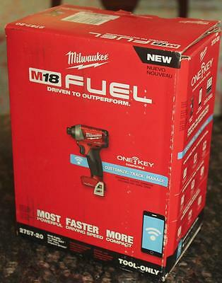 "Milwaukee 2757-20 M18 FUEL 1/4"" Hex Impact Driver with ONE-KEY (Bare Tool) New"