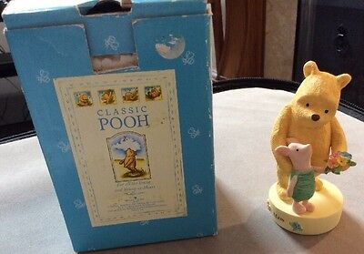 Classic Winnie The Pooh 'mum' China Figurine Border Fine Arts / Enesco Boxed