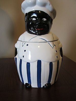 Black Americana JOLLY CHEF COOKIE JAR vintage Africian American Cook cannister