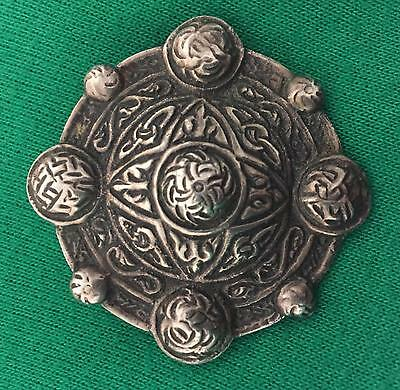 Arts & Crafts Silver Brooch With A Detailed Celtic Design, Scottish Interest