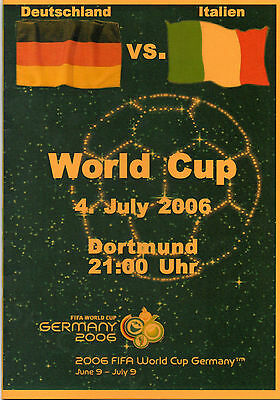 2006 World Cup Semi-Final Germany v Italy Football Programme (pirate)