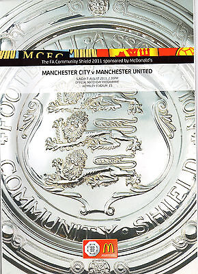 2011 FA Community Shield Manchester City v Manchester United Football Programme
