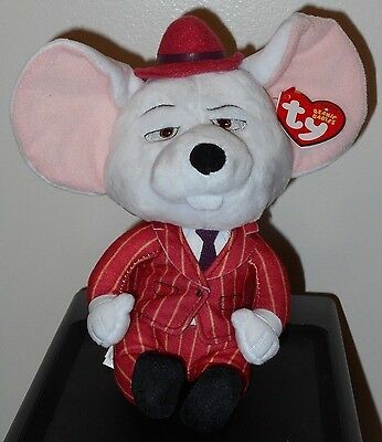 Ty Beanie Baby Babies MIKE the Mouse Universal/ Illumination Movie SING 2017 NEW