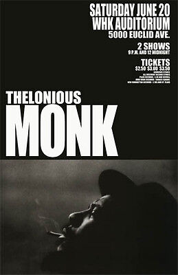 Thelonious Monk 1964 Cleveland Concert Poster