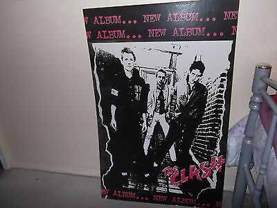 The Clash  2Ft X 3Ft Debut Album Cardboard Poster.