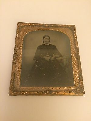 Victorian Photo Frame & Picture Of Victorian Woman Nice Brass Detail