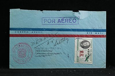 Ecuador: 1949 (circa) Roosevelt Overprinted Imperf. Cover to the USA