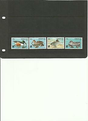 Kiribati - Ducks - Green Winged Teal/ Northern Shoveler  - Mnh Stamps