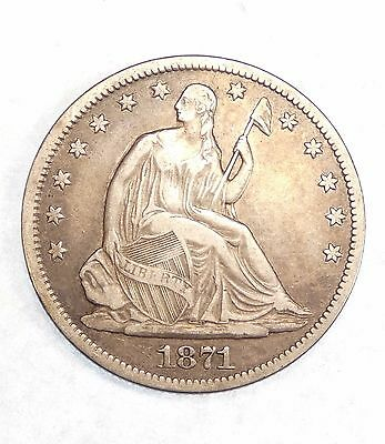 1871-S Liberty Seated Half Dollar VERY FINE Silver 50c