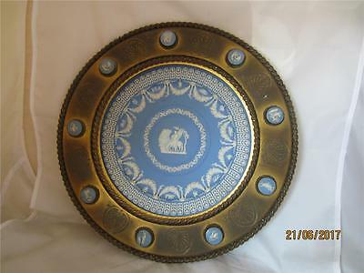 19Th Century Wedgwood Cameo Trophy Plate In Brass Surround