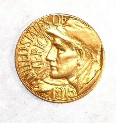 1915-S Panama-Pacific Exposition Commemorative GOLD $1 ALMOST UNCIRCULATED