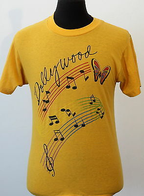 vintage 80s DOLLY PARTON soft thin DOLLYWOOD T SHIRT medium COUNTRY