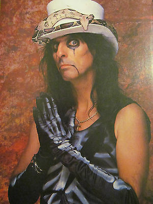 Alice Cooper, Double Full Page Vintage Pinup