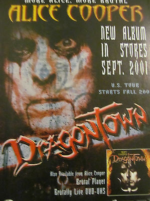 Alice Cooper, Dragontown, Full Page Vintage Promotional Ad