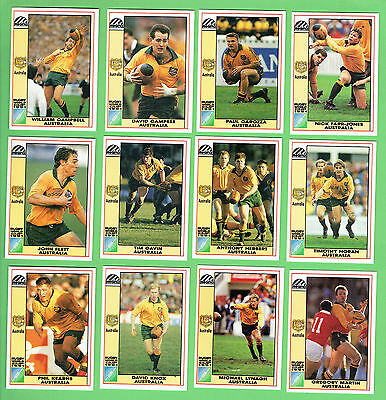 1991 Australian  Wallabies  Rugby Union World Cup Cards