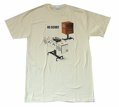 No Doubt Record Player & Speakers Tan T-Shirt Adult Large New Official Soft