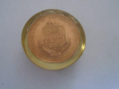 CANADA TOKEN CITY OF OSHAWA COLONEL R.S. McLAUGHLIN 100 ANNIVERSARY 1970s
