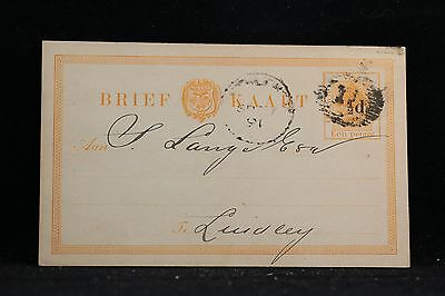 Orange River Colony: Bloemfontein 1891 Bank Overprinted Postal Card to Lindley