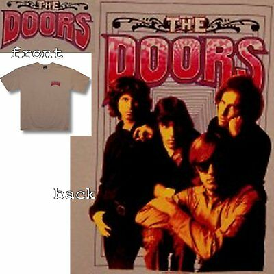 "The Doors! ""illusions"" Band Photo Tan T-Shirt Xxl 2Xl New"