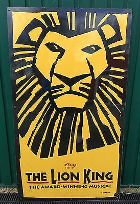 Unique Ex- Disney Large Outdoor Display West End Theatre Sign. Lion King