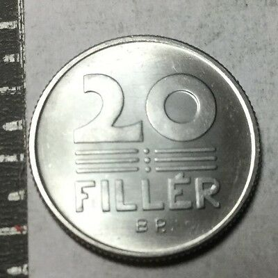 HUNGARY 1972 20 Filler coin BU
