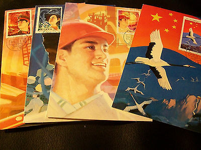 Set of 4-Vintage Stamped Postcards- People's Repubic of China- 1984