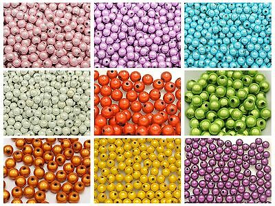 400 Pcs 3D Illusion Acrylic Miracle Round beads 6mm Spacer Color for Choice
